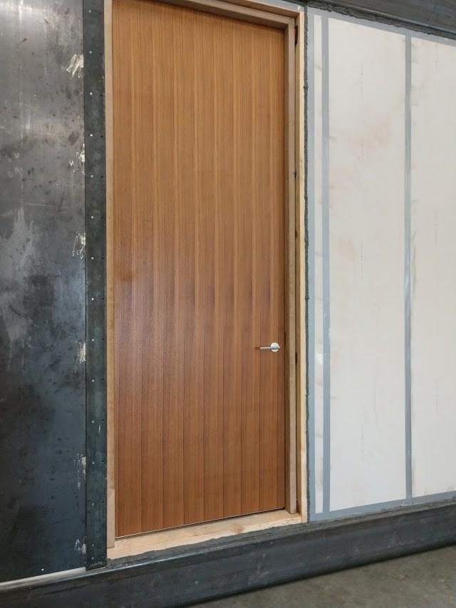 STC Sound Testing wood Grandoor Frames