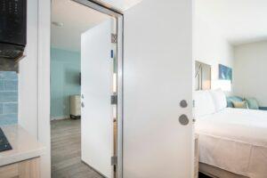 Communicating Hotel Room Doors; STC; Interleading; Adjoining Hotel Room; Wood Door frames;