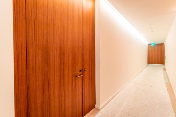Flush door and frame look